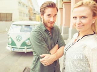 People Fotografie mit VW-Bus in Köln für das Unternehmen 4711