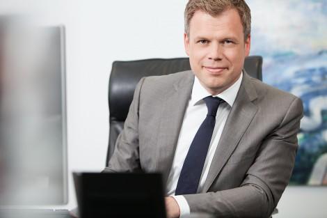 Corporate-Fotografie in Bochum von Geschäftsführer des Unternehmens Creditreform