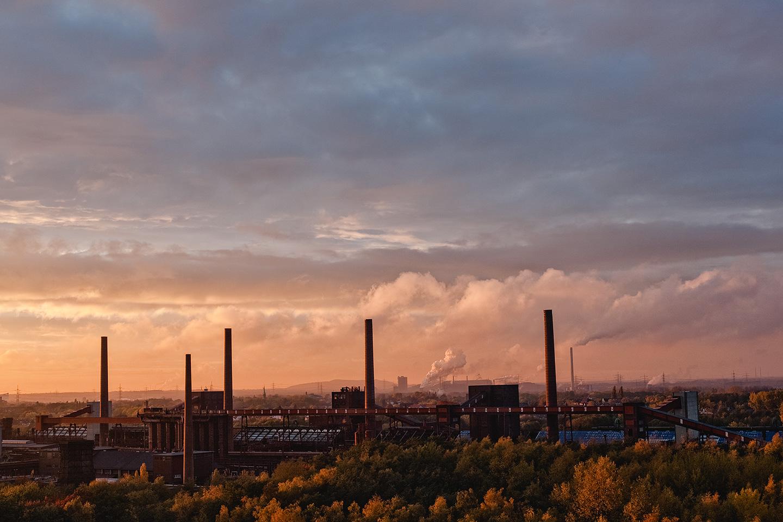 Foto des Ruhrgebiets von der Zeche Zollverein