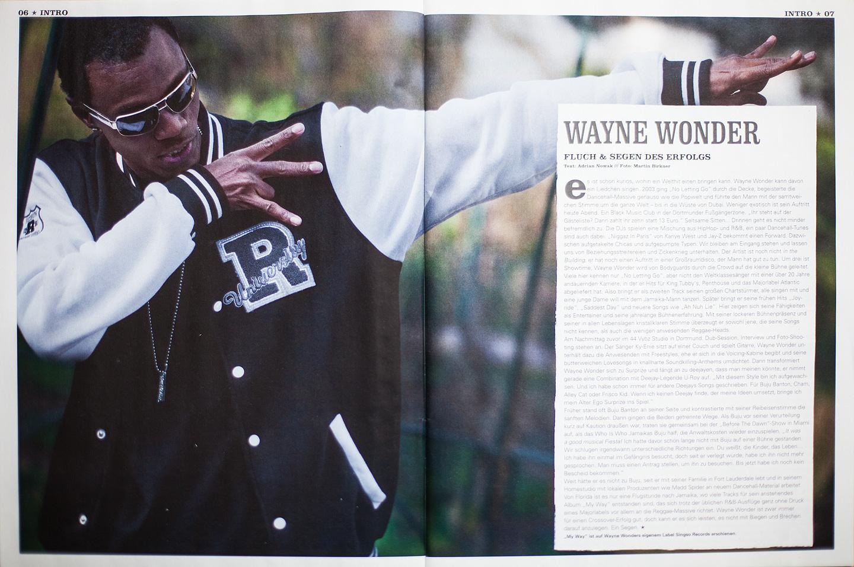 Editorial Fotostrecke und Porträts von Reggae-Musiker Wayne Wonder in Dortmund für das Riddim-Magazin
