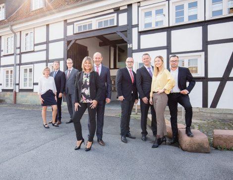 Gruppenfotografie in Hamm für ein Finanz-Unternehmen